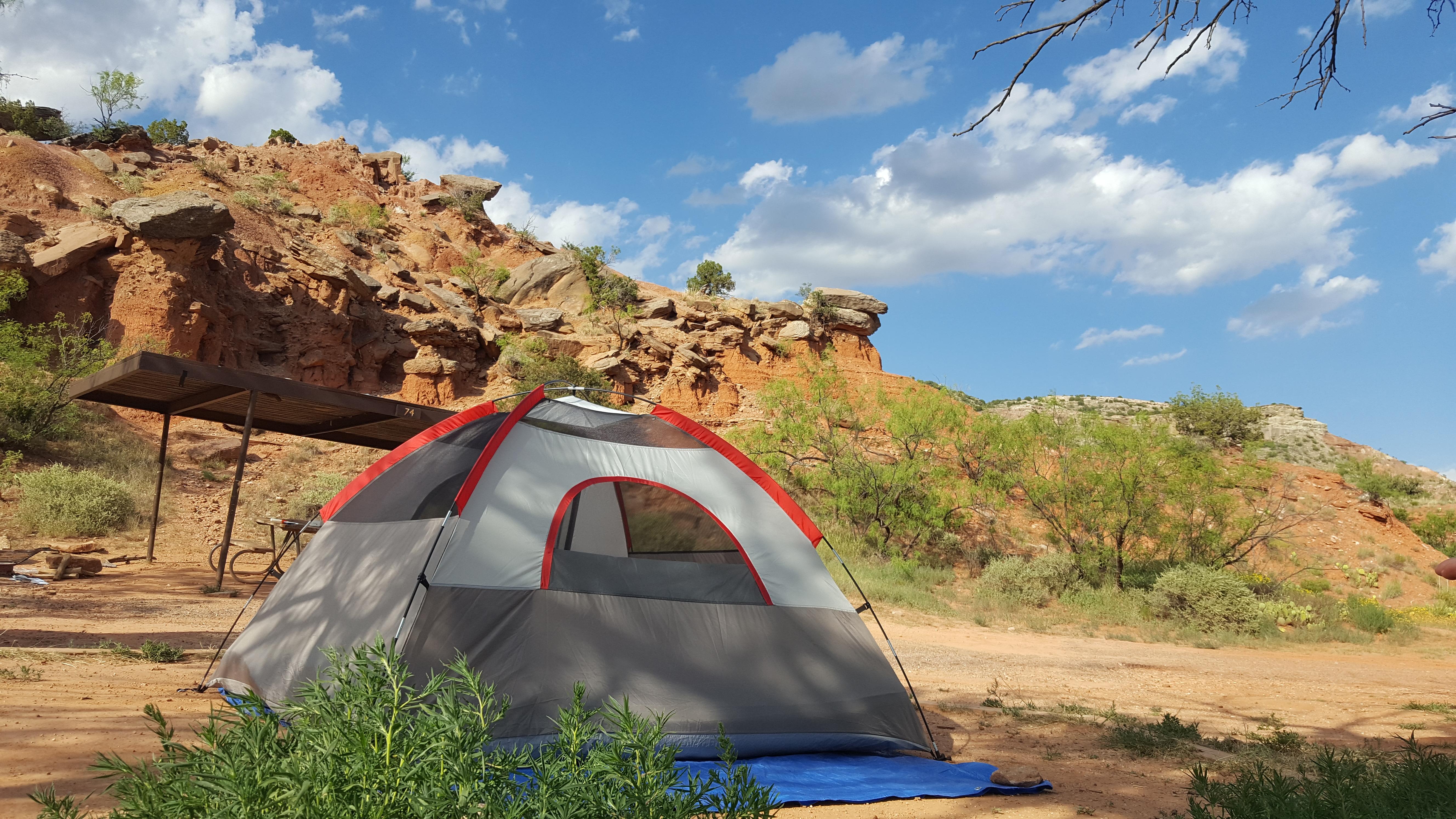 Palo Duro Canyon Tent Camping